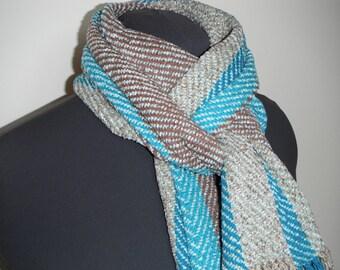Silk and Rayon Handwoven Scarf (807)