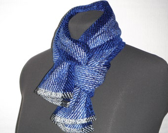 Handwoven Scarf in Bamboo, Rayon and Linen (830)