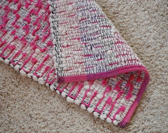 Handwoven Cotton Shaggy Looper Rug (1125B)