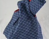 Japanese knot bag waves
