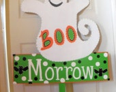 Whimsical Wooden Ghost Yard Sign