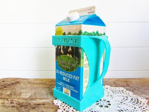CIJ - Plastic Turquoise Milk Carton Holder w/ Handle  Handi Holder