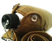 Vintage Military Canteen with Adjustable Pistol Belt.