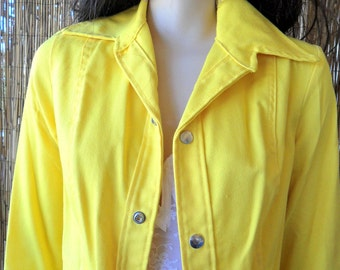 Vintage 70's  RARE DITTOS- Groovy Yellow Denim Jacket Sz Small- 5