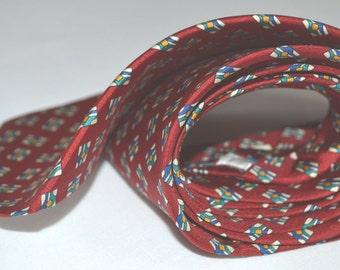 Mens necktie silk personalized monogrammed handmade designer formal wear AC Ashworth & Company, USA