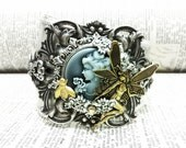 A Midsummer Night's Dream Cuff Aged brass filigree cuff Fantasy mythology inspired jewelry - Vintage victorian steampunk gothic style