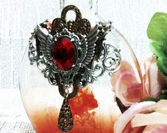 Steampunk Alchemy I Glass Apothecary Bottle