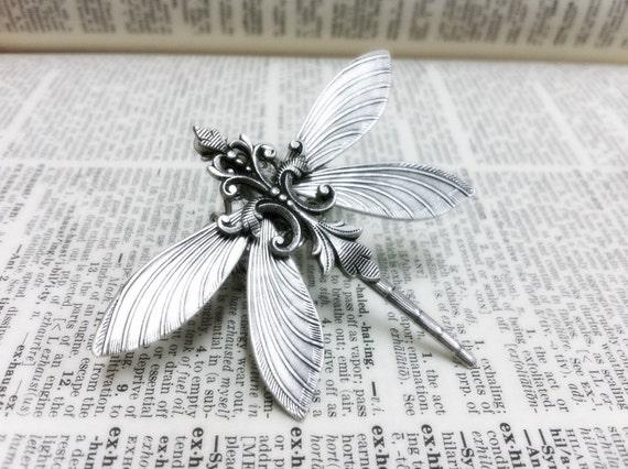 Silverwood I Dragonfly filigree ring  Aged brass filigree ring