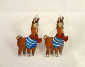 Vlogbrothers: French the Llama earrings