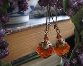 Fairy Tale Crystal Pumpkin Lanterns in Victorian Brass Cinderella's Coach. SALE