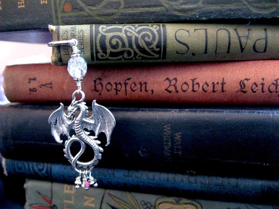 Silver Dragon Grimoire Bookmark, the Whitby Wyrm