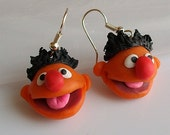 Ernie earrings - Sesame street