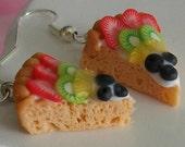 Piece of cake fruit tarts - earrings