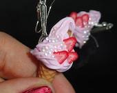 Strawberry ice cream - earrings
