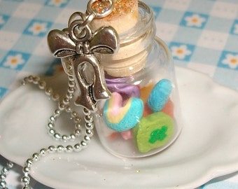 Lucky Charms in jar - necklace for breakfast