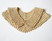 vintage french crochet collar