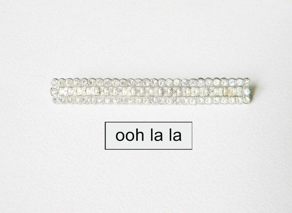 french diamante brooch vintage brooch