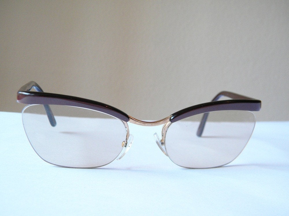 Frame Of Glasses In French : vintage glasses french cat eye essilor nylor glasses frames