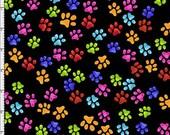 Paws Black Fabric Yard by Loralie