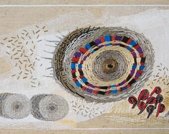 Bale 1, textile collage