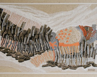Rock Formation, textile collage