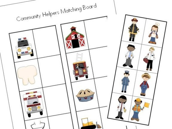 Go Back > Gallery For > Community Helpers Matching Worksheets