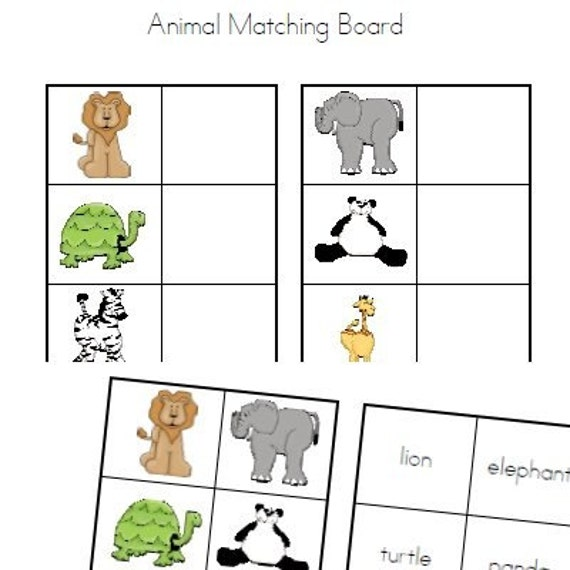 Board Games With Animals Animals Matching Board File