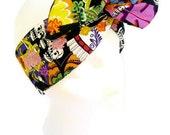 Day of the Dead Sugar Skulls Rockabilly Twisty Headband