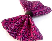 Rockabilly Hot Pink and Black Leopard HairBow Clip
