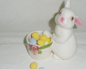 Cute Avon Easter Bunny candle holder/candy dish