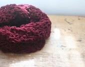 maroon red lacy crochet scarf cowl wrap scarf infinity scarf scarlet garnet auburn burgundy maroon blood red fashion clothing accessories