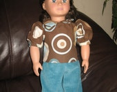"""Green Cords with Brown Blouse 2 pc American Girl 18"""" doll outfit"""