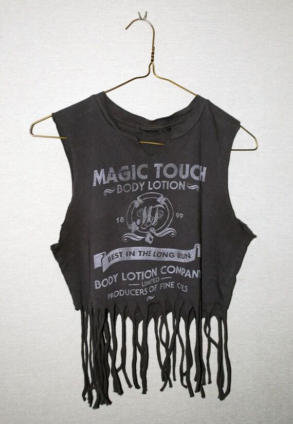 Magic Touch Fringe Crop Tank