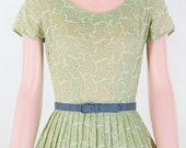 HOLD HOLD HOLD please do not purchase Vintage 50s Green Eyelet Summer Dress (size S)