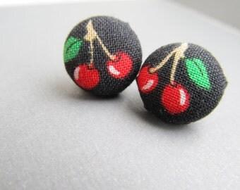 Summer Cherry Stud Earrings