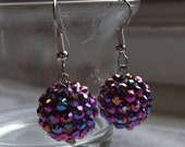 Mulit-Colored Disco Ball Earrings