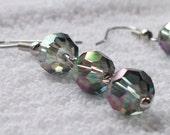 Iridescent Swarovski Crystal Earrings