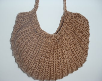 Tan Crochet Purse