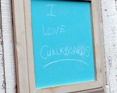 Teal Chalkboard in Distressed Frame
