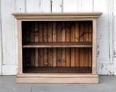 Children's Bookshelf in Distressed Off-White