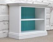 Children's Bookshelf in White and Teal