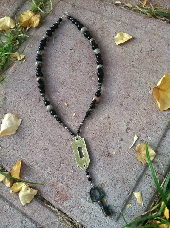 Access Granted - necklace steam punk gypsy tribal bohemian