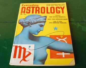 Everyday Astrology Magazine, September 1952 Virgo Libra,  65th Birthday Present