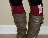 Burgundy Lace, Boot Sock Leg Warmers