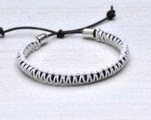 SILVER BULLET Rope Bracelet by MOONDROPS