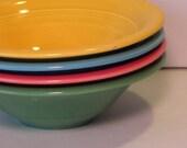 Vintage Homer Laughlin Fiestaware Bowls, 4 pc. asst colors-RESERVED