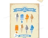 Ice Cream Theme Printable Invitation