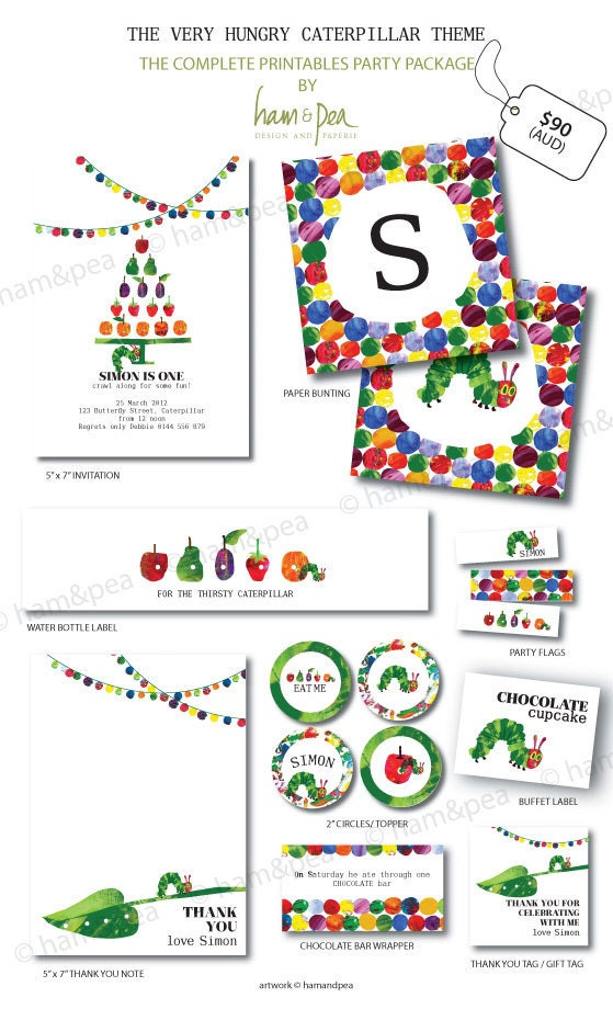 Caterpillar Inspired Printables The Complete Collection
