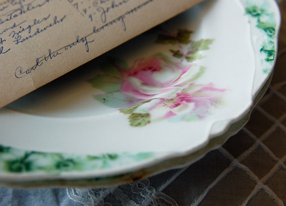 Two Hermann Ohme (Silesia) Porcelain Plates