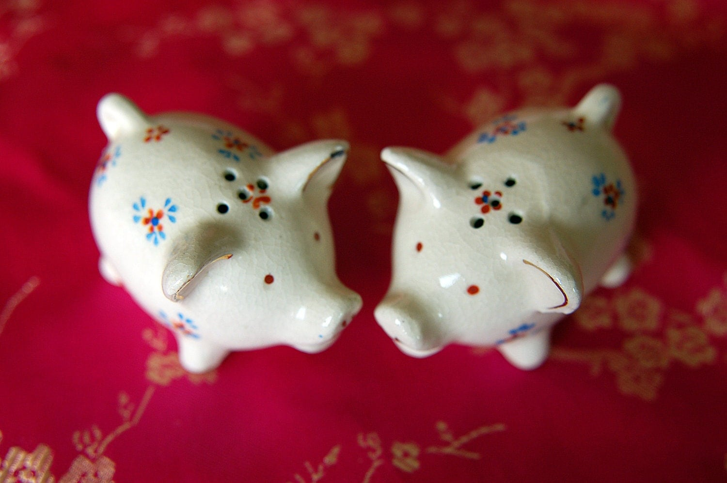Pig Salt And Pepper Shakers Occupied Japan